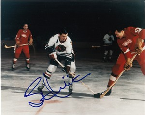 Stan Mikita autographed Chicago Blackhawks 8x10 photo (flopped image)