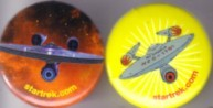 Star Trek Enterprise 2010 Comic-Con set of 2 buttons or pins