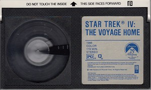 Star Trek IV The Voyage Home movie Beta videocassette