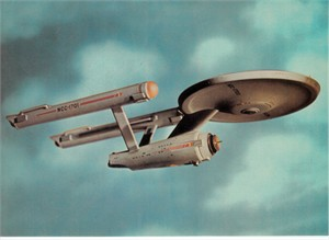 Star Trek Original Series Enterprise 5x7 photo card