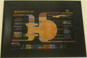 Star Trek Next Generation 2012 Comic-Con lenticular 4x5 inch promo card