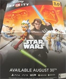 Star Wars Disney Infinity 3.0 2015 Comic-Con foldout 18x24 promo poster