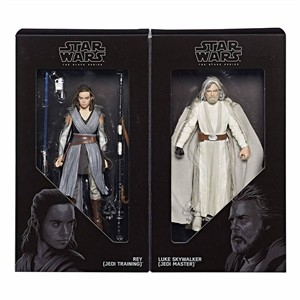 Star Wars Black Series Luke and Rey 2017 Comic-Con exclusive action figure set (The Last Jedi)
