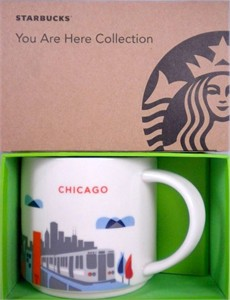 Starbucks 2013 You Are Here Collection Chicago 14 ounce collector coffee mug NEW
