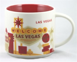 Starbucks 2013 You Are Here Collection Las Vegas 14 ounce collector coffee mug NEW