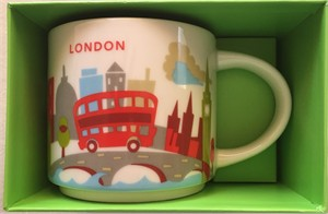 Starbucks 2013 You Are Here Collection London 14 ounce collector coffee mug NEW