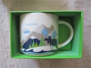 Starbucks 2013 You Are Here Collection Alaska 14 ounce collector coffee mug NEW
