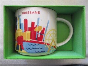 Starbucks 2013 You Are Here Collection Brisbane 14 ounce collector coffee mug NEW