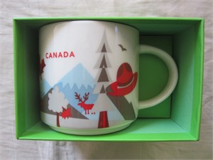 Starbucks 2013 You Are Here Collection Canada 14 ounce collector coffee mug NEW