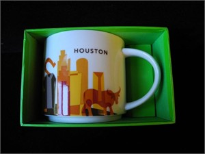 Starbucks 2013 You Are Here Collection Houston 14 ounce collector coffee mug NEW