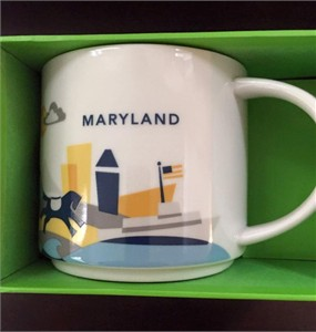 Starbucks 2013 You Are Here Collection Maryland 14 ounce collector coffee mug NEW