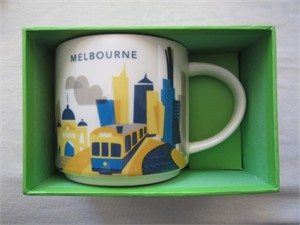 Starbucks 2013 You Are Here Collection Melbourne 14 ounce collector coffee mug NEW