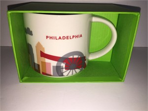 Starbucks 2013 You Are Here Collection Philadelphia 14 ounce collector coffee mug NEW