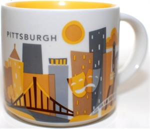 Starbucks 2013 You Are Here Collection Pittsburgh 14 ounce collector coffee mug NEW