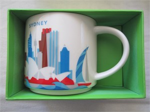 Starbucks 2013 You Are Here Collection Sydney 14 ounce collector coffee mug NEW