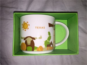 Starbucks 2013 You Are Here Collection Texas 14 ounce collector coffee mug NEW