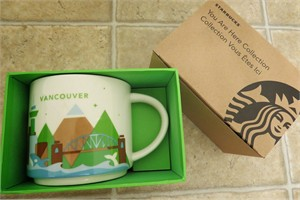 Starbucks 2013 You Are Here Collection Vancouver 14 ounce collector coffee mug NEW