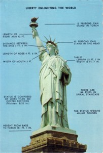 Statue of Liberty 1960s color postcard