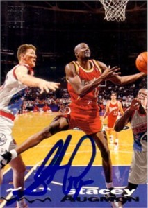 Stacey Augmon autographed Atlanta Hawks 1993-94 Stadium Club card