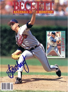 Steve Avery autographed Atlanta Braves 1992 Beckett Baseball magazine cover