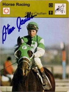 Steve Cauthen autographed 1977 Sportscaster card