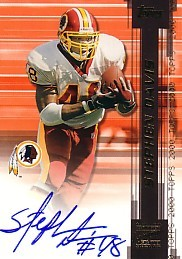 Stephen Davis certified autograph Washington Redskins card