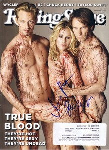 Stephen Moyer & Anna Paquin autographed True Blood 2010 Rolling Stone magazine