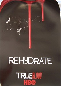 Stephen Moyer autographed True Blood mini poster