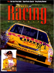 Sterling Marlin (NASCAR) autographed September 1995 Beckett Racing magazine