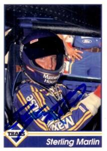 Sterling Marlin (NASCAR) autographed 1992 Traks card
