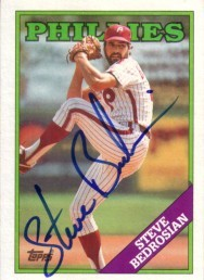 Steve Bedrosian autographed Philadelphia Phillies 1988 Topps card