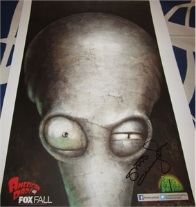 Steve Callaghan autographed American Dad 2013 Comic-Con poster