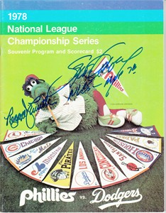 Steve Garvey autographed Los Angeles Dodgers 1978 NLCS program inscribed NLCS MVP 78