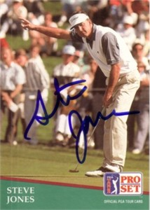 Steve Jones autographed 1991 Pro Set golf card