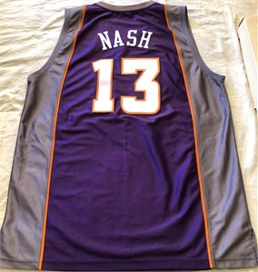 Steve Nash Phoenix Suns authentic Adidas white game model stitched jersey