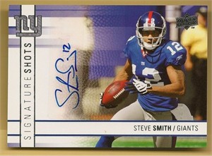 Steve Smith certified autograph New York Giants 2009 Upper Deck Signature Shots card