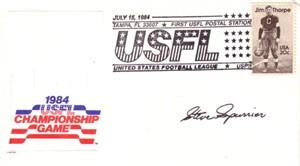 Steve Spurrier autographed 1984 USFL Championship Game cachet envelope