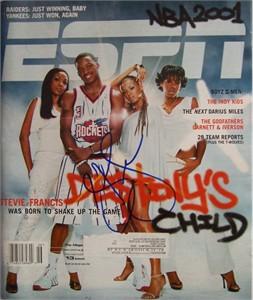 Steve Francis autographed Houston Rockets ESPN Magazine