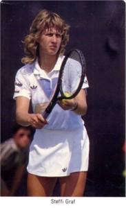 Steffi Graf 1987 Fax-Pax Rookie Card