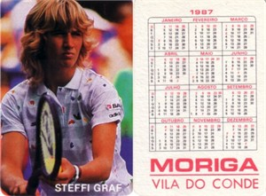 Steffi Graf 1987 Moriga Vila Do Conde card (RARE FROM PORTUGAL)