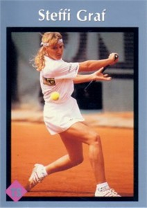 Steffi Graf 1991 Tuff Stuff Jr. card