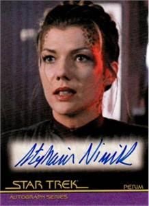 Stephanie Niznik Star Trek certified autograph card