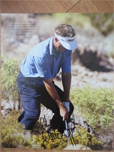 Stuart Appleby autographed 10x13 golf book photo