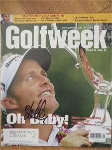 Stuart Appleby autographed 2005 Mercedes Championships Golfweek magazine