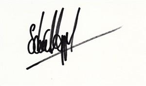 Stuart Appleby autographed index card