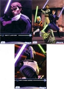 Star Wars Clone Wars 2009 promo card set (3)