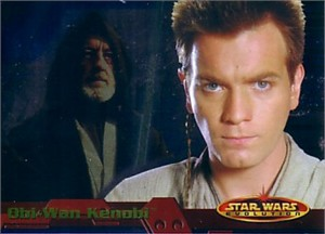 Star Wars Evolution 2001 Topps promo card P2 (Obi-Wan Kenobi)
