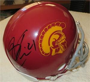 Su'a Cravens autographed USC Trojans mini helmet