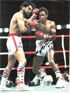 Sugar Ray Leonard autographed Brawl in Montreal full page magazine photo
