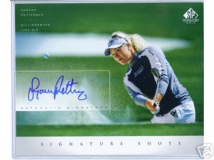 Suzann Pettersen certified autograph 2004 SP Signature Golf 8x10 photo card